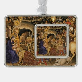 Christliche Dei Fabriano Verehrung der Weisen Rahmen-Ornament Silber