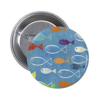 Christliche Fisch-Kunst Runder Button 5,7 Cm