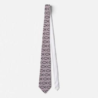 Christliche Fisch-Symbol-Krawatte!! Personalisierte Krawatten