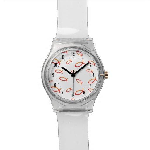 Christliche Fisch-Symbol-Uhr