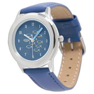 Christliche Fisch-Symbol-Uhr Uhren