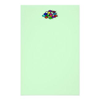 Christliche Fisch-Symbole - Regenbogen-Schule - Individuelles Büropapier