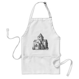 Christliche gotische Kirche Schürze
