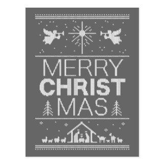 Christliche hässliche postkarte