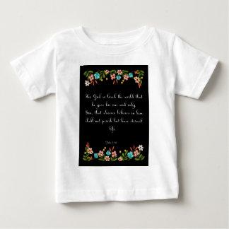 Christliche Inspirational Kunst - John-3:16 Baby T-shirt