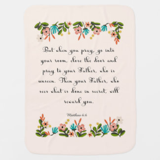 Christliche inspirational Kunst - Matthew-6:6 Kinderwagendecke