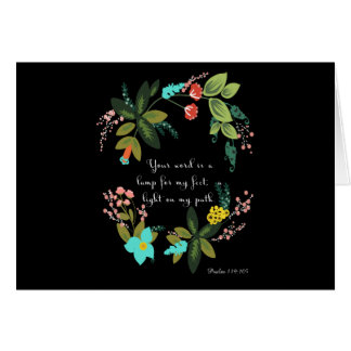 Christliche inspirational Kunst - Psalm-119:105 Karte