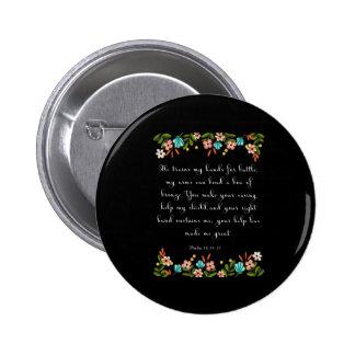 Christliche Inspirational Kunst - Psalm-18:34 - 35 Runder Button 5,1 Cm