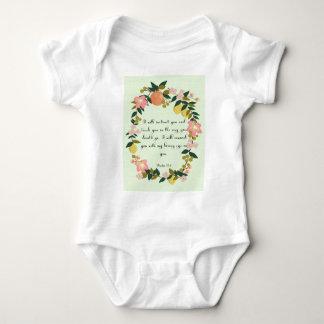 Christliche inspirational Kunst - Psalm-32:8 Baby Strampler