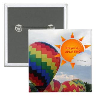 Christliche Inspirational Zusätze und Geschenke Quadratischer Button 5,1 Cm