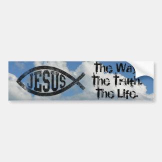 Christliche Jesus-Fische, schwarzes Ichthys Autoaufkleber