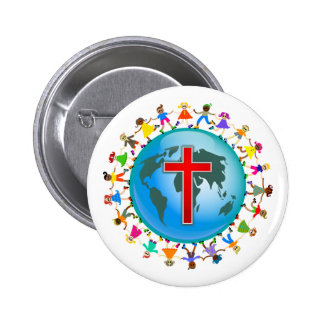 Christliche Kinder Runder Button 5,1 Cm