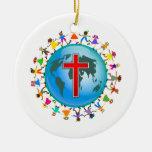 Christliche Kinder Weinachtsornamente
