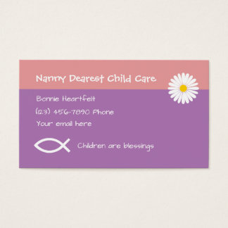 Christliche Kinderbetreuung Visitenkarte