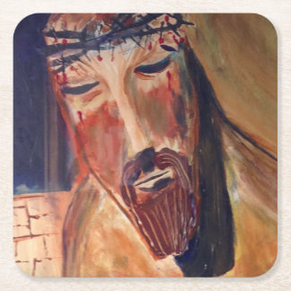Christliche kundenspezifische quadratische rechteckiger pappuntersetzer