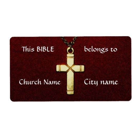 Christliche Querbesitz-Aufkleber Versandetiketten