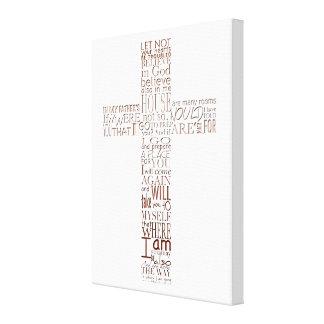 Christliche Querbibel versifiziert kupferne Leinwanddruck