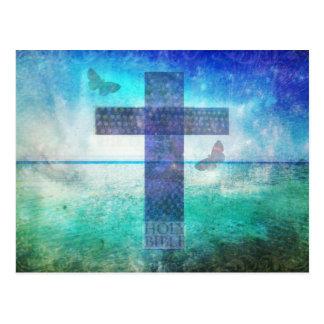 Christliche quere zeitgenössische Kunst Postkarte