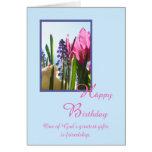 Christliche religiöse Geburtstags-Karte -- Frühlin