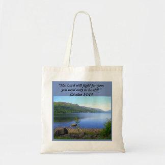 Christliche Taschen-Tasche - Exodus-14:14 Tragetasche