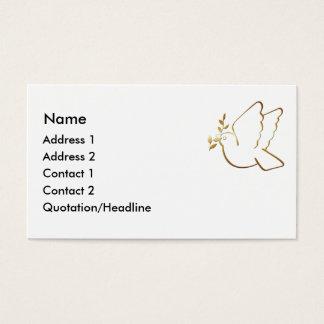Christliche Tauben-kundenspezifische Visitenkarte