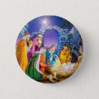 Christliche Weihnachtskarte Runder Button 5,1 Cm