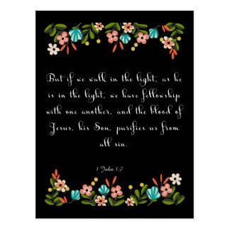 Christliche Zitat-Kunst - 1 John-1:17 Postkarte