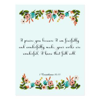 Christliche Zitat-Kunst - 1 Korinther-10:13 Postkarten