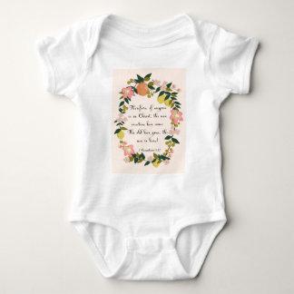Christliche Zitat-Kunst - 2 Korinther-5:17 Baby Strampler