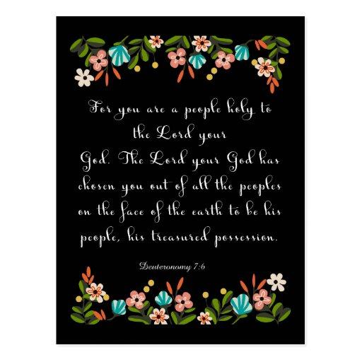 Christliche Zitat-Kunst - Deuteronomy 7:6 Postkarte