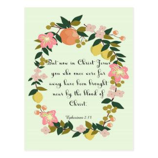 Christliche Zitat-Kunst - Ephesians 2:13 Postkarten