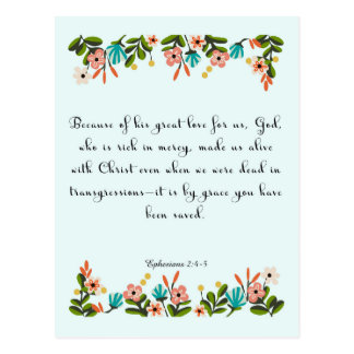 Christliche Zitat-Kunst - Ephesians 2:4 - 5