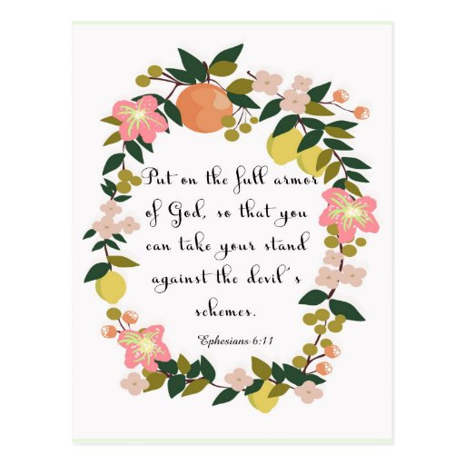 Christliche Zitat-Kunst - Ephesians 6:11 Postkarten