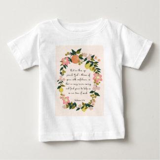 Christliche Zitat-Kunst - hebräisches 4:16 Baby T-shirt
