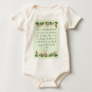 Christliche Zitat-Kunst - Hosea 6:3 Baby Strampler