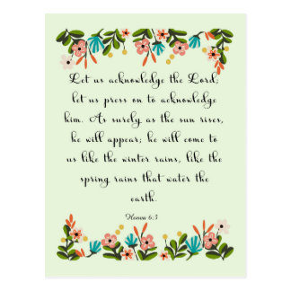 Christliche Zitat-Kunst - Hosea 6:3