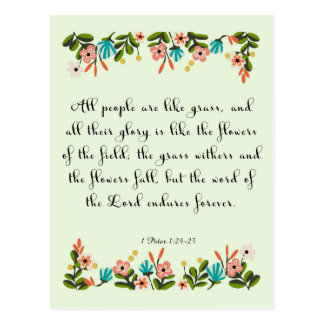 Christliche Zitat-Kunst - Jeremias-24:6 Postkarten