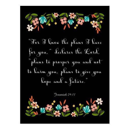 Christliche Zitat-Kunst - Jeremias-29:11 Postkarte