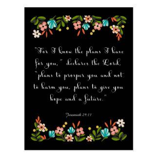 Christliche Zitat-Kunst - Jeremias-29:11 Postkarten