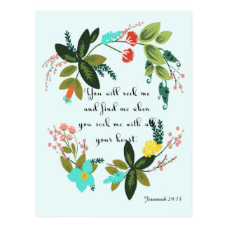 Christliche Zitat-Kunst - Jeremias-29:13 Postkarte
