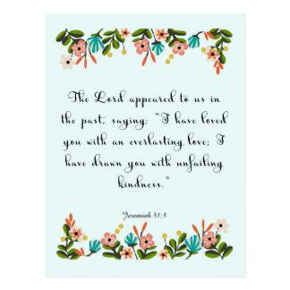 Christliche Zitat-Kunst - Jeremias-31:3 Postkarten