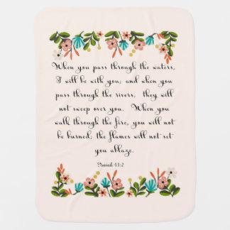Christliche Zitat-Kunst - Jesaja-43:2 Babydecke