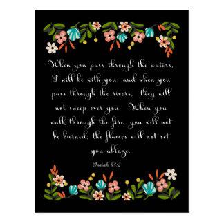 Christliche Zitat-Kunst - Jesaja-43:2