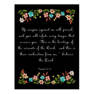 Christliche Zitat-Kunst - Jesaja-54:17 Postkarte