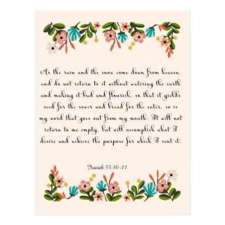 Christliche Zitat-Kunst - Jesaja-55:10 - 11 Postkarten