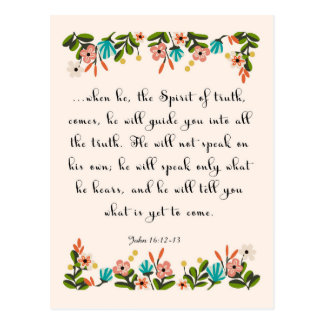 Christliche Zitat-Kunst - John-16:12 - 13 Postkarte