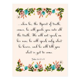 Christliche Zitat-Kunst - John-16:12 - 13 Postkarten
