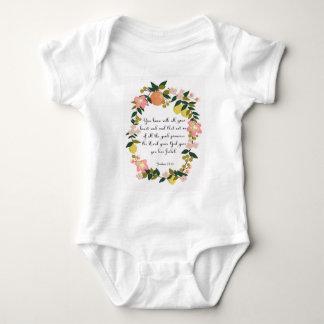 Christliche Zitat-Kunst - Joshua-23:14 Baby Strampler