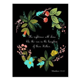 Christliche Zitat-Kunst - Matthew-13:43 Postkarte