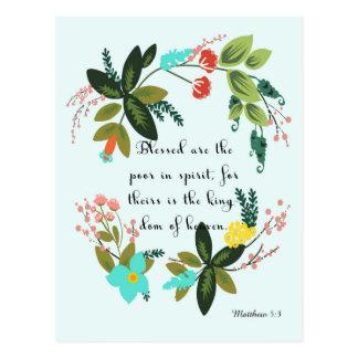 Christliche Zitat-Kunst - Matthew-5:3 Postkarten